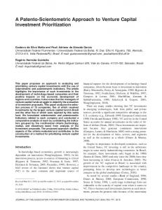 A patentoscientometric approach to venture ... - Wiley Online Library
