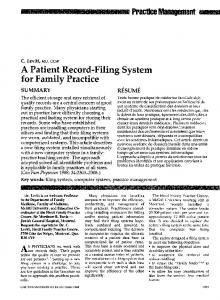 A Patient Record-Filing System - NCBI