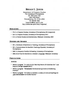 a PDF version - School of Arts & Sciences - University of Pennsylvania