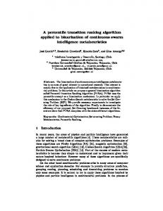 A percentile transition ranking algorithm applied to