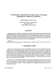 A Performance Analysis of two Linear Array Processing Algorithms for ...
