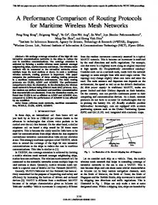 A Performance Comparison of Routing Protocols for Maritime Wireless ...