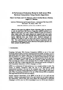 A performance evaluation study for qos-aware web services ...