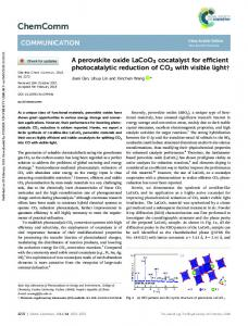 A perovskite oxide LaCoO3 cocatalyst for efficient