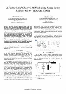 A Perturb and Observe Method using Fuzzy Logic Control for PV ...