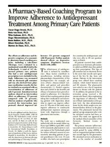A Pharmacy-Based Coaching Program to Improve Adherence to ...