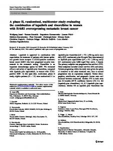 A phase II, randomized, multicenter study evaluating ... - Springer Link