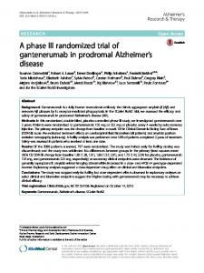 A phase III randomized trial of gantenerumab in ... - UCL Discovery