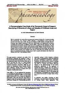 A Phenomenological Case Study of the Therapeutic Impact of Imagery ...