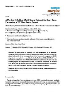 A Physical Hybrid Artificial Neural Network for Short Term ... - MDPI