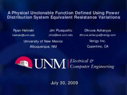 A Physical Unclonable Function Defined Using Power Distribution ...