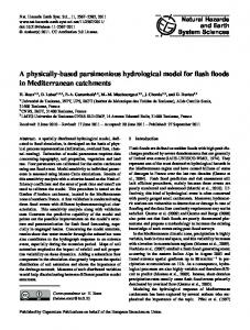 A physically-based parsimonious hydrological ... - Semantic Scholar
