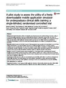 A pilot study to assess the utility of a freely
