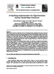 A Pipelining Implementation for High Resolution Seismic ...www.researchgate.net › publication › fulltext › 27793122