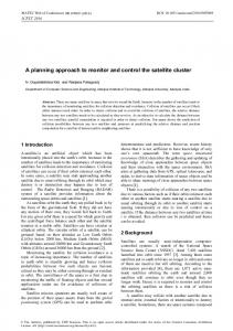 A planning approach to monitor and control the satellite cluster