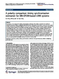 A polarity comparison timing synchronization ... - Semantic Scholar
