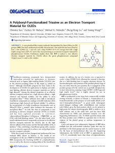A Polyboryl-Functionalized Triazine as an Electron ... - ACS Publications