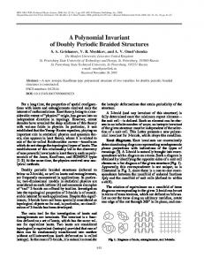 A polynomial invariant of doubly periodic braided ... - Springer Link