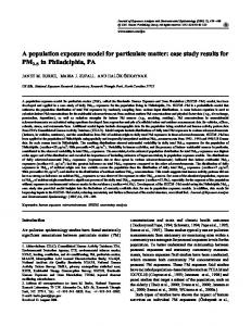A population exposure model for particulate matter: case ... - Nature