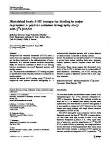 a positron emission tomography study with