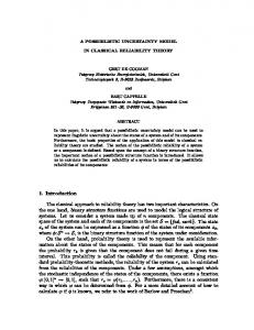 A POSSIBILISTIC UNCERTAINTY MODEL IN CLASSICAL