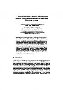 A Power-Efficient MAC Protocol with Two-Level ... - Semantic Scholarhttps://www.researchgate.net/...MAC.../A-Power-Efficient-MAC-Protocol-with-Two-L...