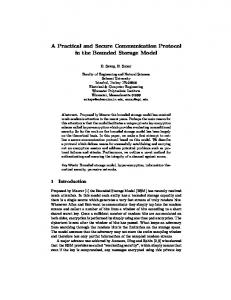 A Practical and Secure Communication Protocol in