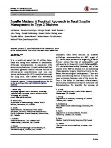 A Practical Approach to Basal Insulin Management in ... - Springer Link