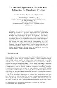 A Practical Approach to Network Size Estimation for ... - Springer Link
