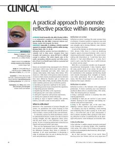 A practical approach to promote reflective practice ... - Nursing Times