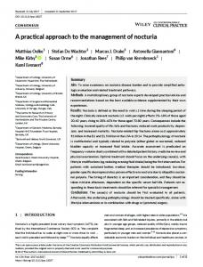 A practical approach to the management of ... - Wiley Online Library