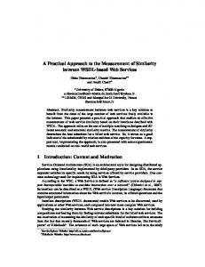 A Practical Approach to the Measurement of Similarity ... - Lirmm