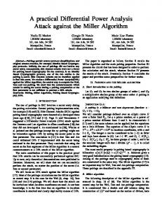 A practical Differential Power Analysis Attack against the Miller Algorithm