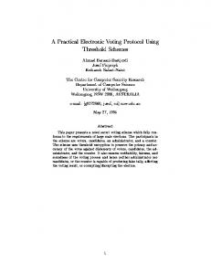 A Practical Electronic Voting Protocol Using ... - Semantic Scholar