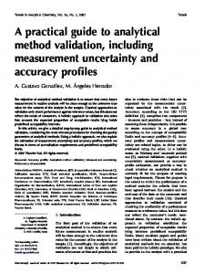 A practical guide to analytical method validation