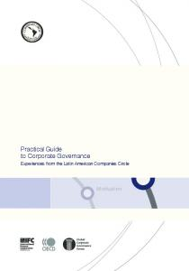 A Practical Guide to Corporate Governance - IFC