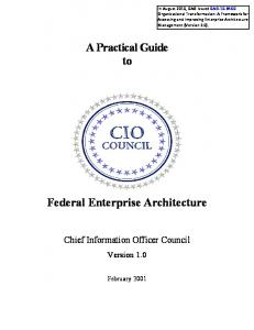 A Practical Guide to Federal Enterprise Architecture