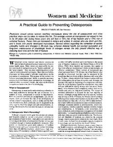 A practical guide to preventing osteoporosis