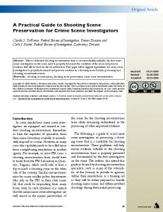 A Practical Guide to Shooting Scene Preservation for Crime Scene ...