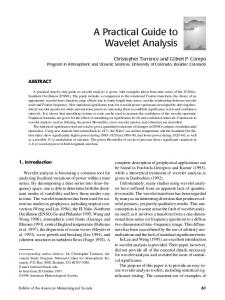 A Practical Guide to Wavelet Analysis