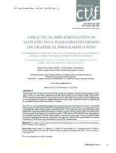 a practical implementation of acoustic full ... - SciELO Colombia