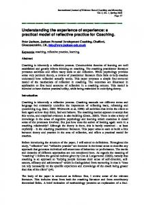 a practical model of reflective practice for Coaching. - International ...