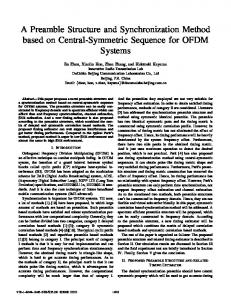 A Preamble Structure and Synchronization Method ... - IEEE Xplore