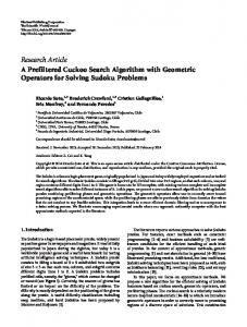 A Prefiltered Cuckoo Search Algorithm with Geometric Operators for ...