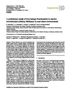 A preliminary study of iron isotope fractionation in ... - Biogeosciences