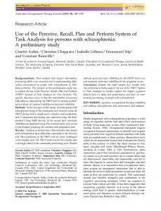 A preliminary study - Wiley Online Library