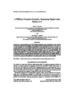 A PREttier Compiler-Compiler: Generating Higher Order Parsers in C ...