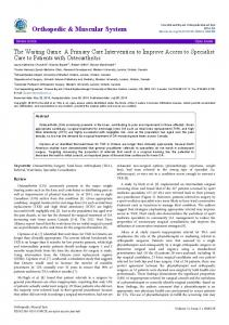 A Primary Care Intervention to Improve Access ... - OMICS International