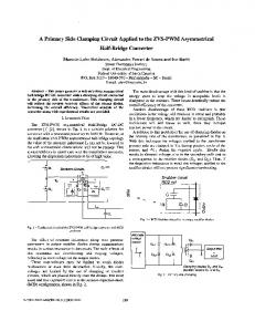 A primary side clamping circuit applied to the ZVS-PWM ... - Ivo Barbi