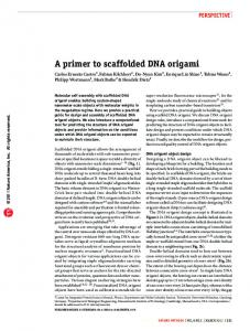 A primer to scaffolded DNA origami - Semantic Scholar